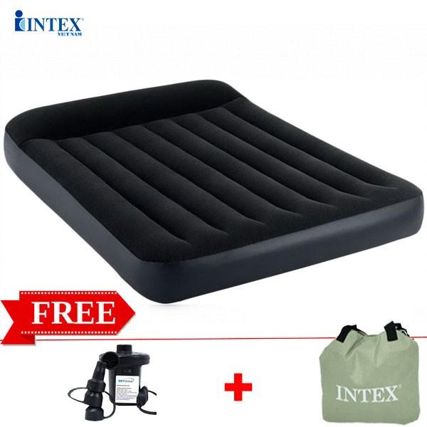 Đệm hơi đôi công nghệ mới tích hợp gối đầu 1m52 INTEX 64143