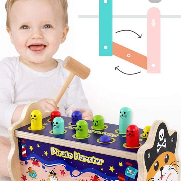 Đồ chơi đập chuột bằng gỗ cho bé QZM-0976