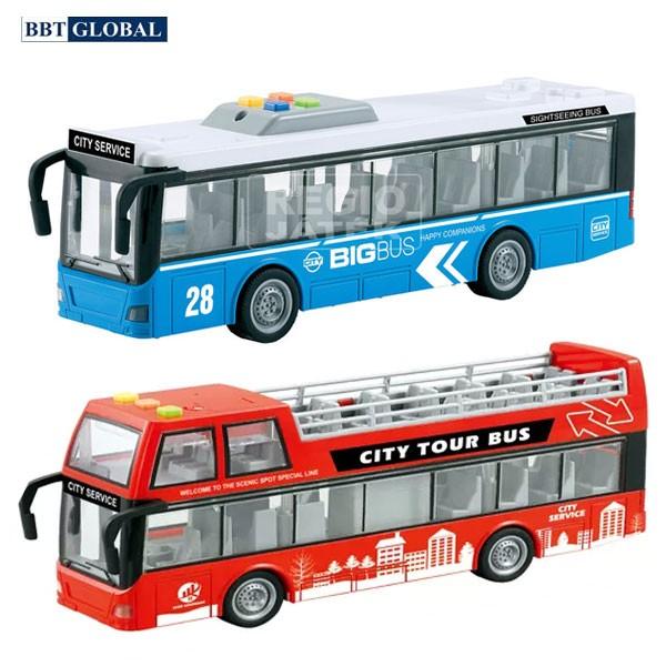 Mô hình xe bus thành phố cỡ lớn có đèn và nhạc WY916A/ WY910B