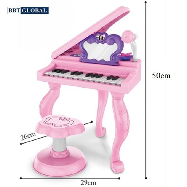 Đồ chơi đàn Piano kèm set trang điểm có ghế ngồi cho bé J93-01