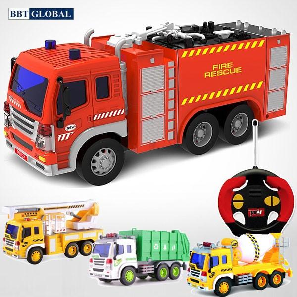 Mô hình xe cứu hỏa, xe môi trường, xe công trường có khiển từ xa