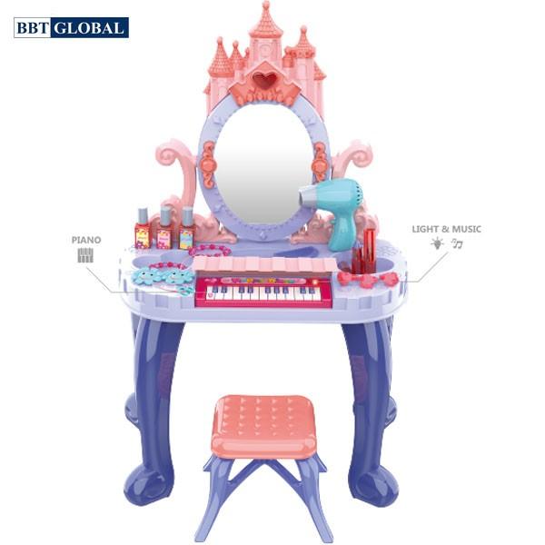 Bàn trang điểm lâu đài kèm đàn Piano cho bé 661-136