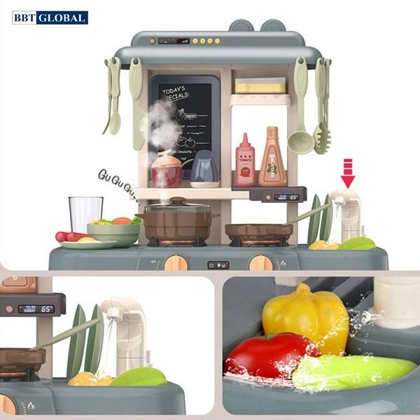 Đồ chơi bếp nấu ăn  63cm 36 chi tiết xanh không khói 889-189