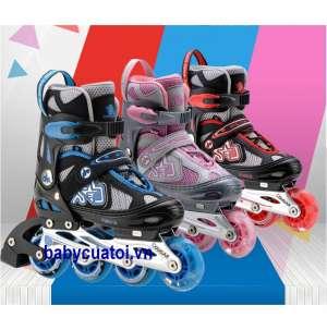 Giầy trượt patin Cougar bánh phát sáng MZS835LE-12