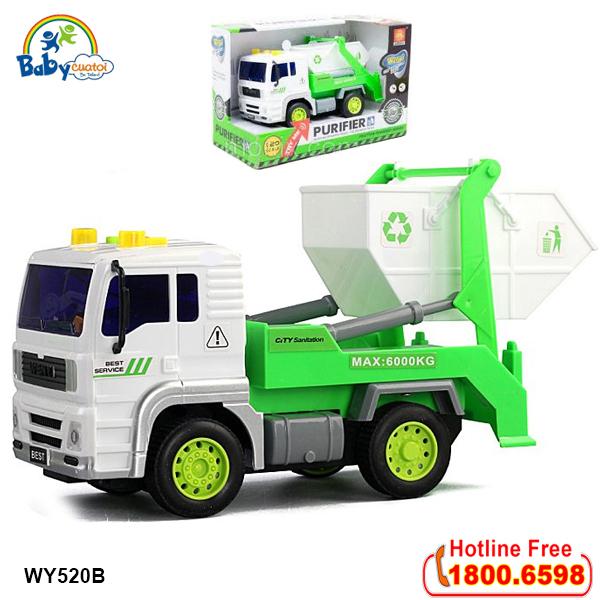 Mô hình đồ chơi xe môi trường có đèn và nhạc mẫu mới WY520B