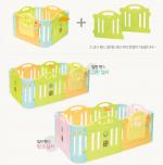 Cặp 2 cạnh quây bóng Hàn Quốc 1 thấp + 1 cao màu xanh Y1422G
