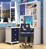 Bộ bàn ghế học bé trai đẹp nhập khẩu BGBT-200