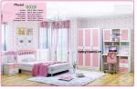 Bộ nội thất phòng ngủ bé gái đẹp nhập khẩu BO-602