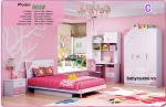 Bộ nội thất phòng ngủ bé gái đẹp nhập khẩu BO-802