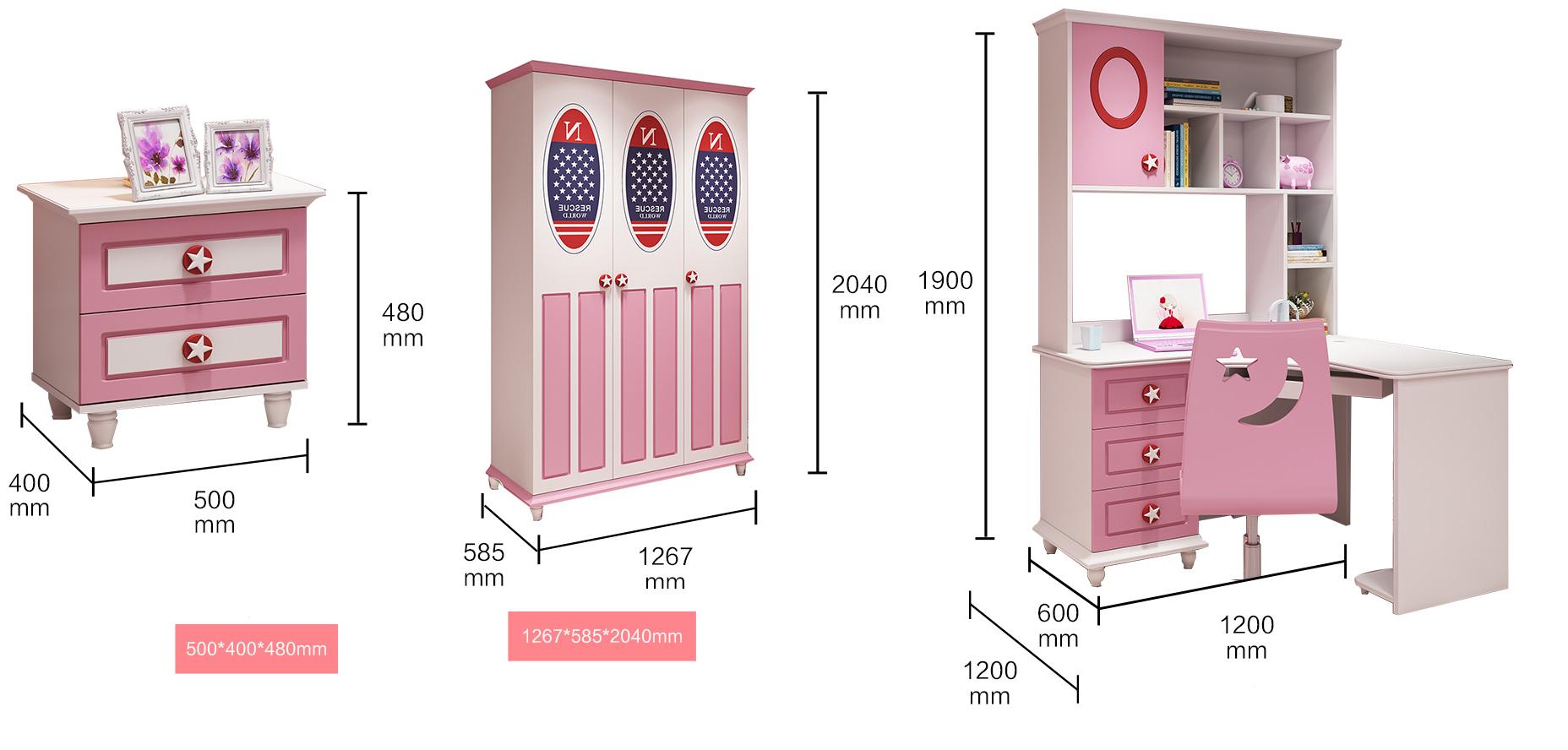 Bộ nội thất phòng ngủ đẹp cho bé gái GBG-03