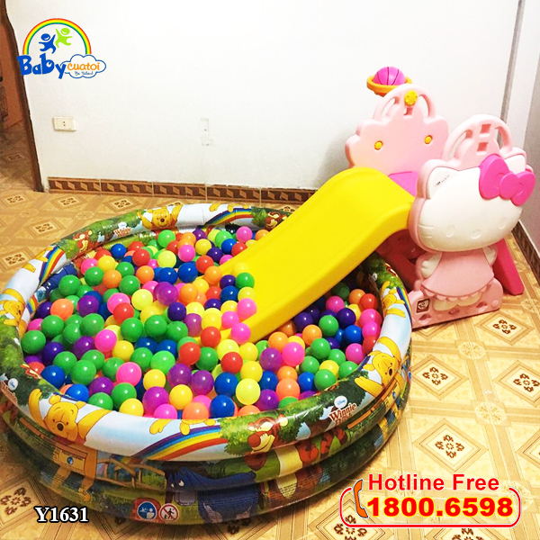 Cầu trượt mini Hàn Quốc Hello Kitty Y1631_2