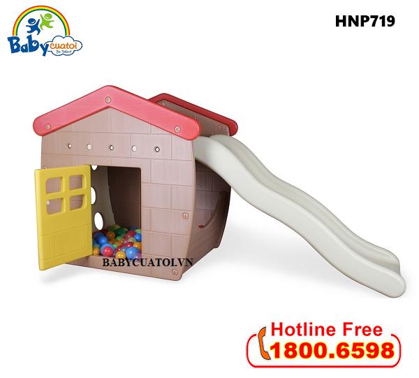 Nhà chơi cầu trượt bể bóng Hàn Quốc cho bé HNP719_1