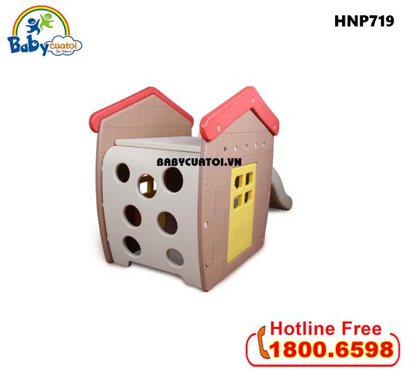 Nhà chơi cầu trượt bể bóng Hàn Quốc cho bé HNP719_2