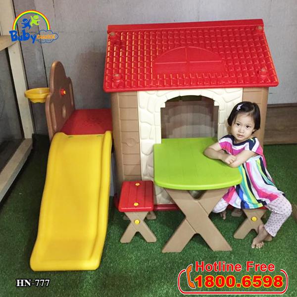 Nhà chơi cầu trượt kèm bàn ghế Hàn Quốc cho bé HN-777_2