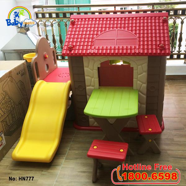 Nhà chơi cầu trượt kèm bàn ghế Hàn Quốc cho bé HN-777