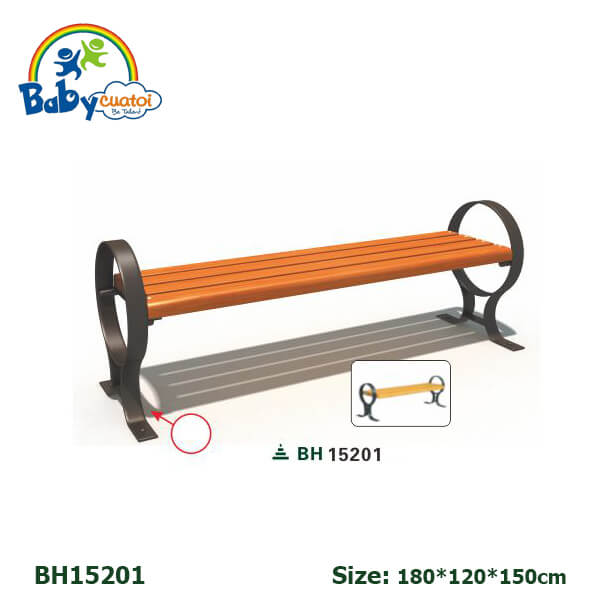 Ghế công viên sân vườn nhập khẩu BH15201