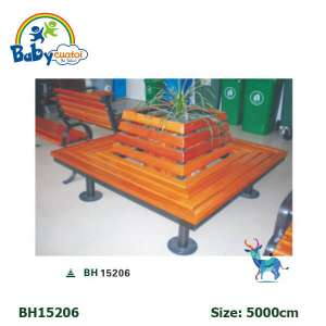Ghế công viên nhập khẩu hình vuông BH15206