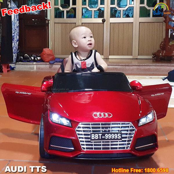 Ô tô điện trẻ em dáng Audi TTS màu đỏ phun sơn BBT-9999DS