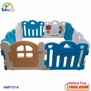 Quây bóng Hàn Quốc 8 cạnh có đồ chơi màu xanh HNP737-8X