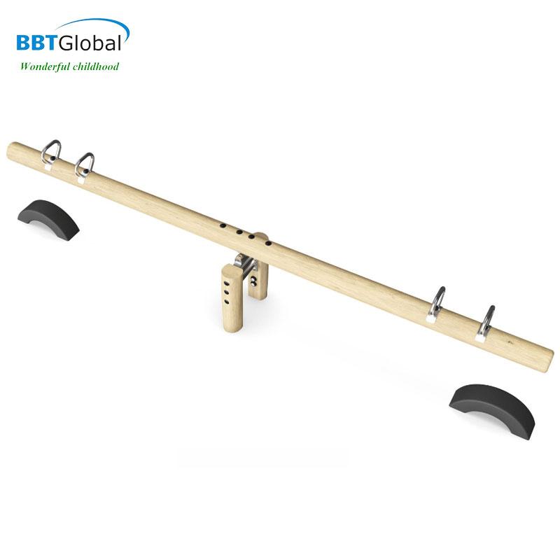 Bập bênh 4 chỗ ngoài trời bằng gỗ cao cấp BBT Global HT-J008