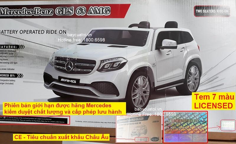 Xe ô tô điện trẻ em Mercedes GLS 63 AMG | Vỏ hộp