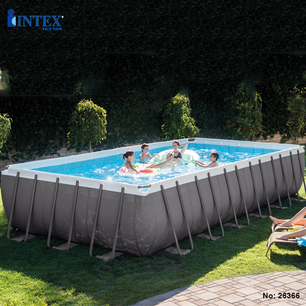 Bể bơi khung kim loại chịu lực mẫu mới INTEX 26366