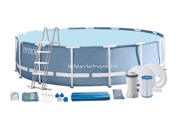 Bể bơi khung kim loại chịu lực tròn 7m32 INTEX 28762