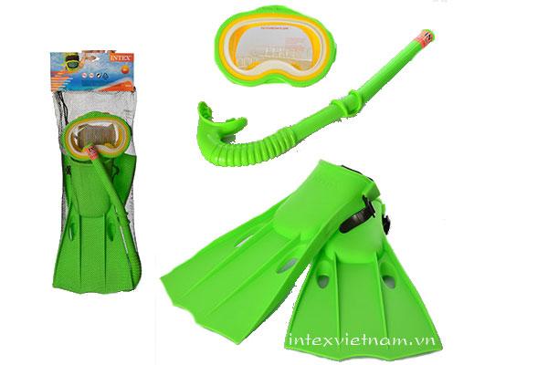 Bộ kính bơi chân vị ống thở mẫu mới INTEX 55955