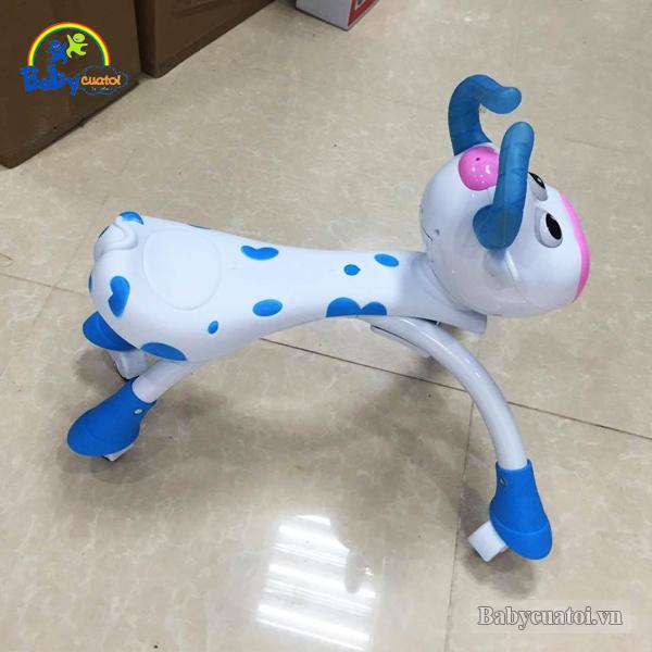 Xe chòi chân con bò có đèn và nhạc màu xanh SL1308X