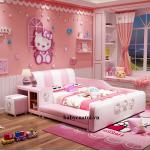 Giường ngủ bé gái bọc da nhập khẩu cao cấp hồng B021-H