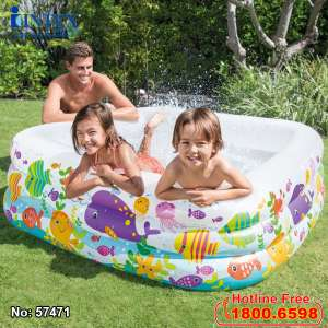 Bể bơi phao đại dương hình vuông 1m59 INTEX 57471