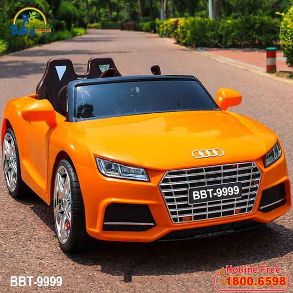 Xe oto điện trẻ em dáng Audi TTS màu vàng BBT-9999V