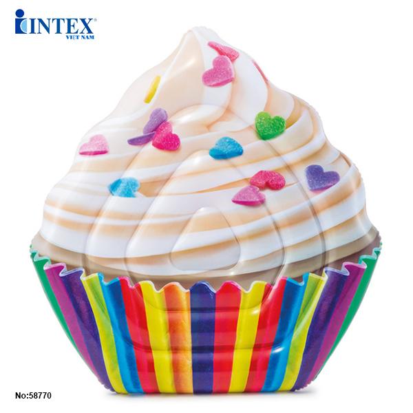 Phao boi banh Cupcake khong lo intex 58770