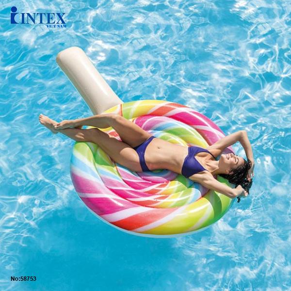 Phao bơi kẹo xoáy khổng lồ INTEX 58753