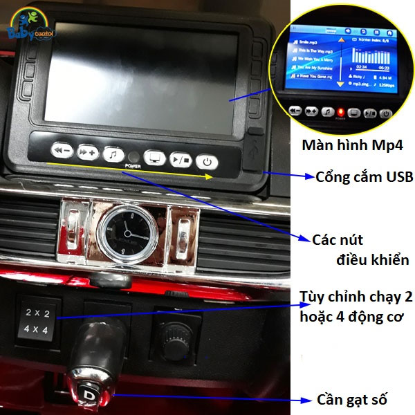 Xe ô tô điện trẻ em Lexus LX570 | Màn hình cảm ứng