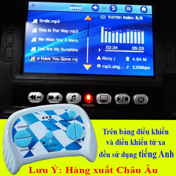 Xe ô tô điện trẻ em bản quyền Lexus LX570 màu xanh | điều khiển và màn hình LCD