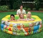 Bể bơi phao INTEX 57494 lục giác - Gấu Pooth