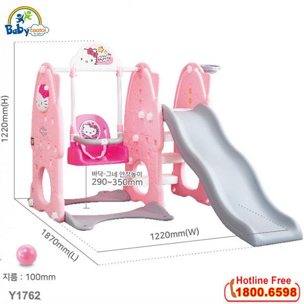 Cầu trượt xích đu Hàn Quốc 4 trong 1 Hello Kitty Y1762