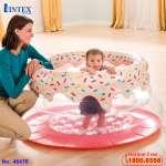 Cũi nhún Donut màu hồng cho bé INTEX 48476