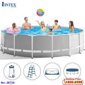 Bể bơi khung kim loại tròn 4m57 INTEX 26724