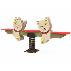 Bập bênh nhún lò xo cao cấp đôi mèo ZK139-54