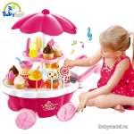 Bộ đồ chơi quầy bán kem và bánh ngọt di động 668-25