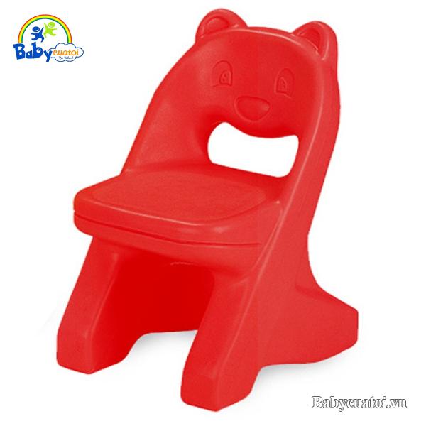 Ghế nhựa Hàn Quốc gấu đáng yêu HN469d