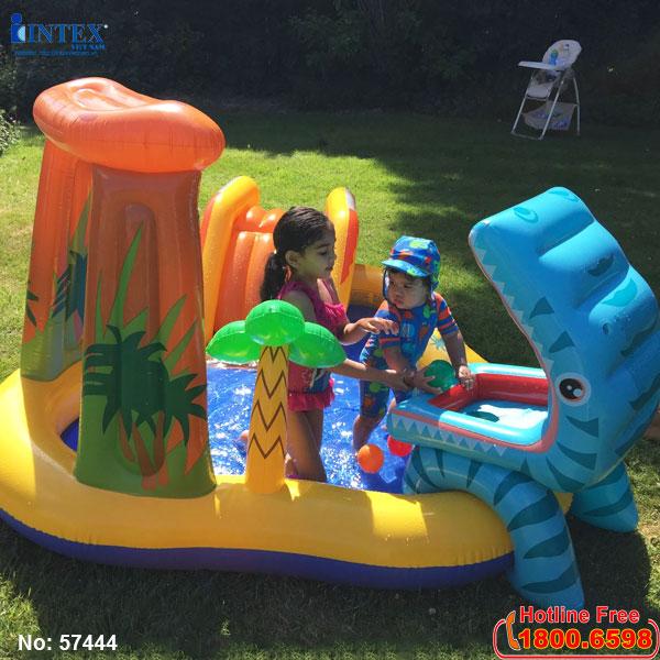 Bể bơi phao có cầu trượt INTEX 57444