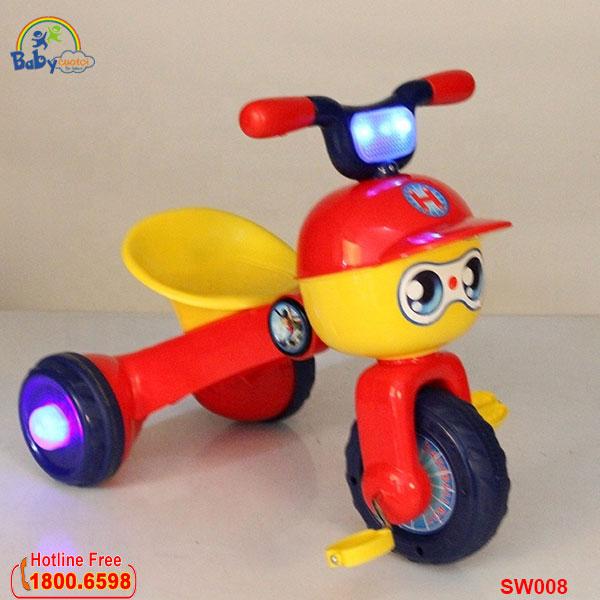 Xe đạp 3 bánh có đèn cho bé SW008