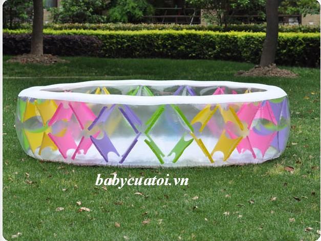 Bể bơi phao sắc màu 2m29 có đáy bơm hơi INTEX 56494