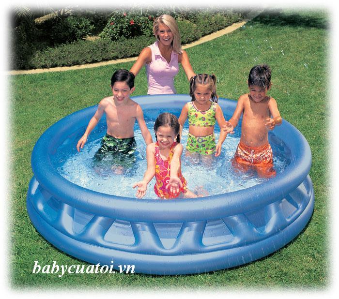Bể bơi phao 1m88 hình tròn cho bé INTEX 58431