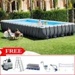 Bể bơi khung kim loại chịu lực 9m75 có máy lọc INTEX 26378