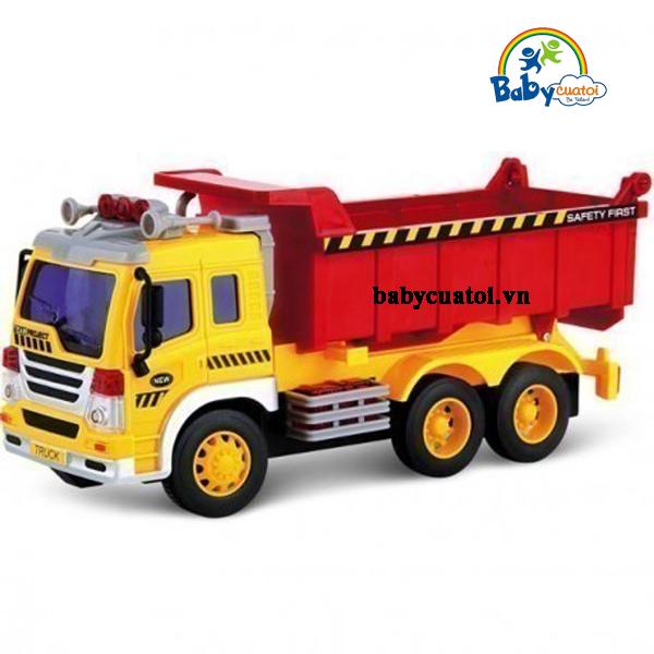 Mô hình đồ chơi xe tải cỡ lớn có đèn và nhạc WY301S