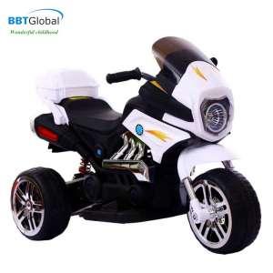 Xe máy điện trẻ em địa hình màu trắng BBT-300T